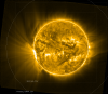 SWAP view of AR 12209 as it rotates onto the east limb of the Sun.