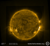 AR 11520 flares from behind the limb - 20/07/2012